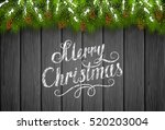 winter theme  christmas...   Shutterstock .eps vector #520203004
