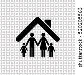 family    black vector icon | Shutterstock .eps vector #520205563