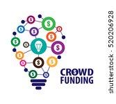 crowdfunding concept vector... | Shutterstock .eps vector #520206928