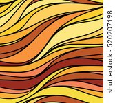 vector color hand drawing wave... | Shutterstock .eps vector #520207198