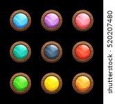 cartoon vector round buttons...