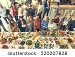 food catering cuisine culinary... | Shutterstock . vector #520207828