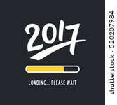 2017 is loading. please wait.... | Shutterstock .eps vector #520207984