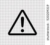 exclamation   black  vector icon | Shutterstock .eps vector #520209319