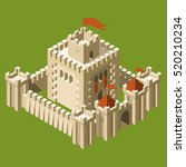isometric medieval castle with... | Shutterstock .eps vector #520210234