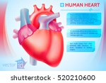 cardio medical template with... | Shutterstock .eps vector #520210600