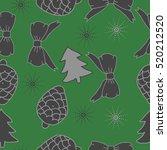 seamless pattern of christmas...   Shutterstock .eps vector #520212520