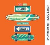 sport skate surf typography  t... | Shutterstock .eps vector #520213534