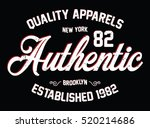 new york apparels typography  t ... | Shutterstock .eps vector #520214686