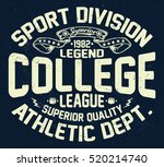 college league  sport... | Shutterstock .eps vector #520214740