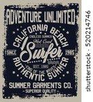 california beach  authentic... | Shutterstock .eps vector #520214746