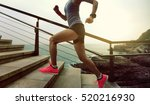 young fitness sports woman ... | Shutterstock . vector #520216930