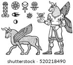 linear drawing  a mythical... | Shutterstock .eps vector #520218490