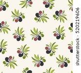 olive seamless pattern design | Shutterstock .eps vector #520219606
