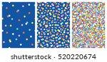 set of joyful seamless pattern... | Shutterstock .eps vector #520220674