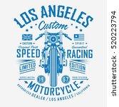motorcycle speed racing... | Shutterstock .eps vector #520223794