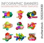 geometric business infographics ... | Shutterstock .eps vector #520224430