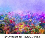 abstract colorful oil painting... | Shutterstock . vector #520224466