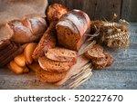 assortment of fresh baked bread ...   Shutterstock . vector #520227670