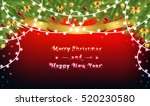 garlands and christmas tree... | Shutterstock .eps vector #520230580