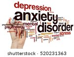 anxiety disorder word cloud... | Shutterstock . vector #520231363
