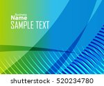 blue abstract template for card ... | Shutterstock .eps vector #520234780