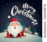 merry christmas  santa claus in ... | Shutterstock .eps vector #520240978