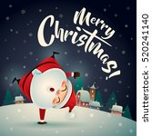 merry christmas  santa claus in ... | Shutterstock .eps vector #520241140