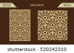 diy laser cutting set. woodcut... | Shutterstock .eps vector #520242310