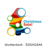 colorful christmas abstract... | Shutterstock . vector #520242646