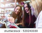 group of smiling female... | Shutterstock . vector #520243330