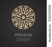 golden flower shape. gradient... | Shutterstock .eps vector #520243504