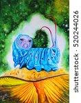 Card. Watercolor Illustration...