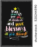 christmas quote. may peace be... | Shutterstock .eps vector #520244590
