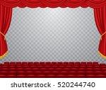 vector transparent empty stage... | Shutterstock .eps vector #520244740