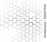 chemistry 3d pattern  hexagonal ... | Shutterstock .eps vector #520247533