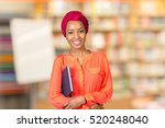 african american student with... | Shutterstock . vector #520248040