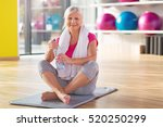 senior woman at the gym  | Shutterstock . vector #520250299