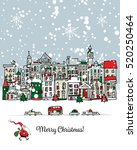 merry christmas postcard with... | Shutterstock .eps vector #520250464
