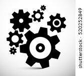 cogs icons. vector gears... | Shutterstock .eps vector #520252849