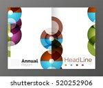 transparent circle composition... | Shutterstock . vector #520252906