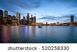panorama of singapore city... | Shutterstock . vector #520258330