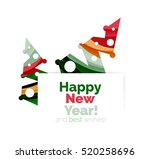 christmas and new year... | Shutterstock . vector #520258696