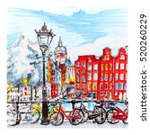 Color Hand Drawing  City View...