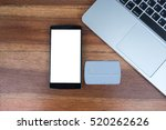 smartphone with blank screen... | Shutterstock . vector #520262626