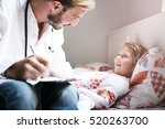 young male doctor visiting his... | Shutterstock . vector #520263700