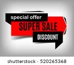 super sale banner  vector... | Shutterstock .eps vector #520265368