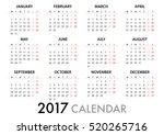 2017 calendar planner design....   Shutterstock .eps vector #520265716