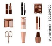 set of simple beige cosmetic... | Shutterstock .eps vector #520269520