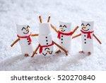 happy funny marshmallow... | Shutterstock . vector #520270840